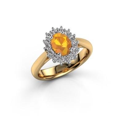 Verlobungsring Margien 1 585 Gold Citrin 7x5 mm