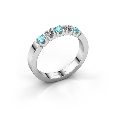 Engagement ring Dana 5 925 silver blue topaz 3 mm