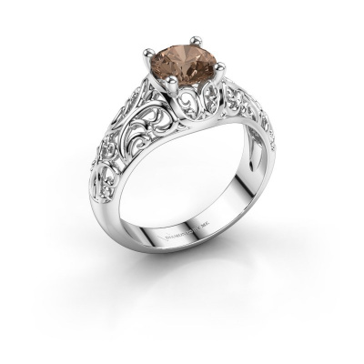 Ring Mirte 925 zilver bruine diamant 1.00 crt