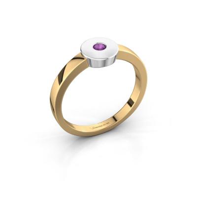 Ring Elisa 585 gold amethyst 3 mm