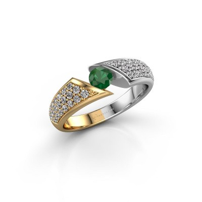 Picture of Engagement ring Hojalien 3 585 gold emerald 4.2 mm