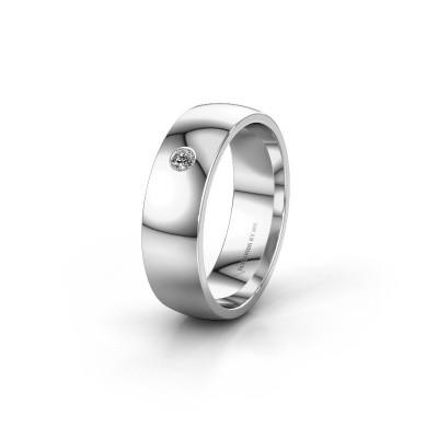 Trouwring WH0101L26AP 950 platina diamant ±6x1.4 mm
