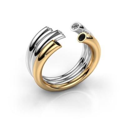 Ring Noelle 585 Gold Schwarz Diamant 0.352 crt