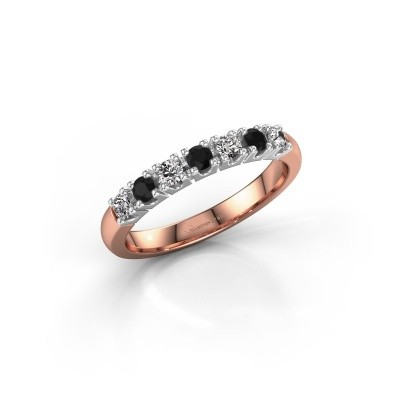 Picture of Engagement ring Rianne 7 585 rose gold black diamond 0.418 crt