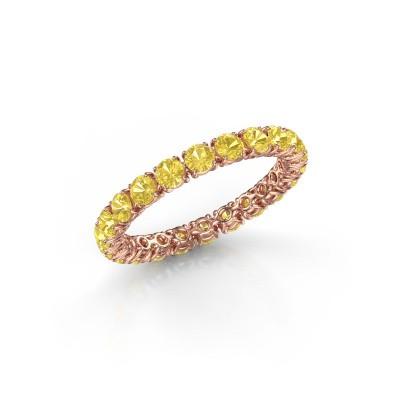 Foto van Ring Vivienne 2.7 375 rosé goud gele saffier 2.7 mm