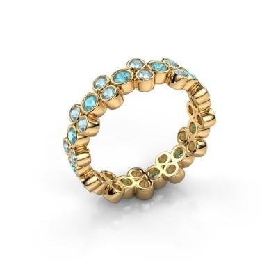 Ring Victoria 375 Gold Blau Topas 2.4 mm