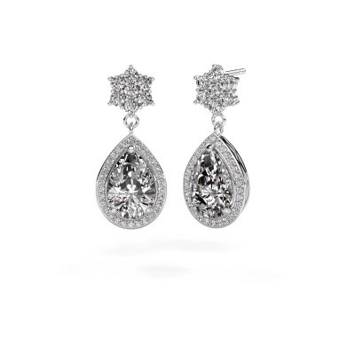 Picture of Drop earrings Era 950 platinum diamond 7.22 crt