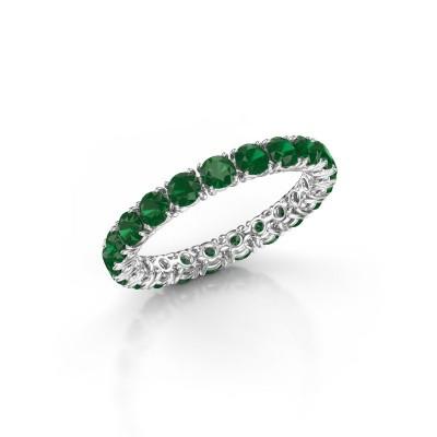 Foto van Ring Vivienne 2.9 585 witgoud smaragd 2.9 mm
