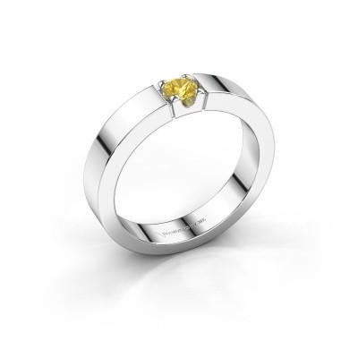 Foto van Belofte ring Dana 1 585 witgoud gele saffier 3.7 mm