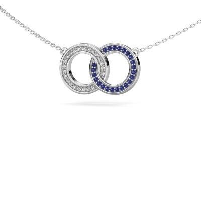 Ketting Circles 1 925 zilver saffier 1 mm