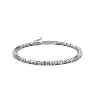 Bild von Tennis Armband Karin 2 mm 585 Weißgold Diamant 2.16 crt