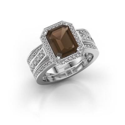 Picture of Ring Dodie 3 585 white gold smokey quartz 9x7 mm