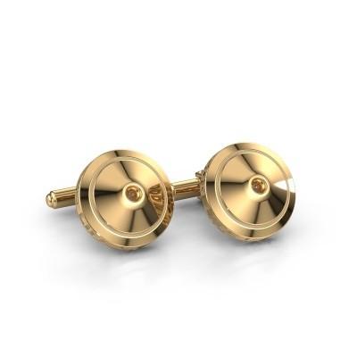 Foto van Manchetknopen Demian 585 goud bruine diamant 0.09 crt