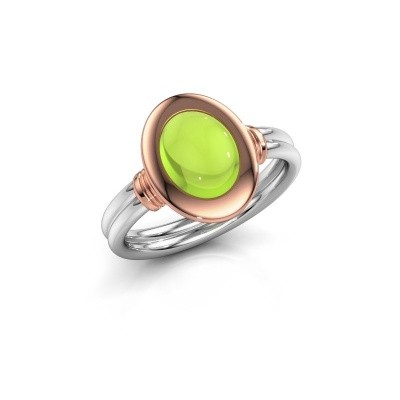 Picture of Ring Brittni 585 white gold peridot 9x7 mm