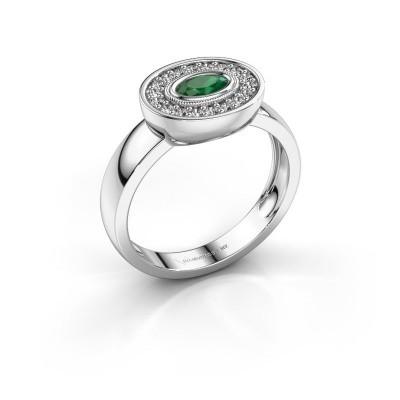 Ring Azra 925 Silber Smaragd 5x3 mm