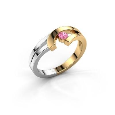 Ring Yentl 585 goud roze saffier 3 mm