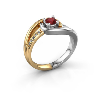 Ring Aylin 585 gold ruby 4 mm