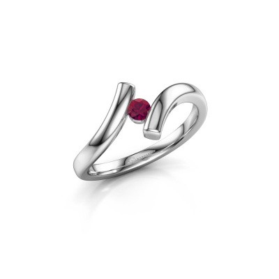 Foto van Ring Amy 585 witgoud rhodoliet 3 mm