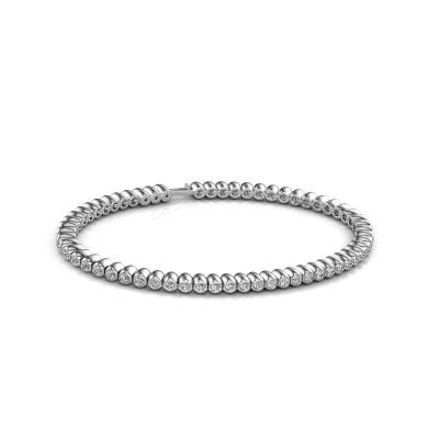 Bild von Tennis Armband Bianca 2 mm 585 Weißgold Diamant 1.800 crt