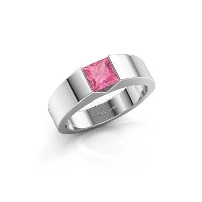 Foto van Verlovingsring Arlena 1 925 zilver roze saffier 4 mm