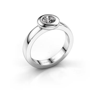 Ring Iris 585 white gold diamond 0.50 crt