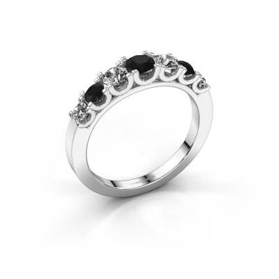 Foto van Verlovingsring Selina 3 585 witgoud zwarte diamant 0.94 crt