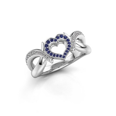 Ring Earlie 2 950 Platin Saphir 1.1 mm