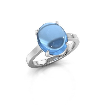 Picture of Ring Mallie 1 925 silver blue topaz 12x10 mm