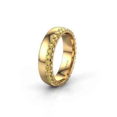 Trouwring WH6122L25B 375 goud gele saffier ±5x2 mm