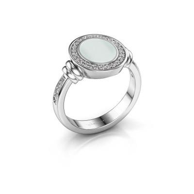 Signet ring Bailey 925 silver green sardonyx 10x8 mm