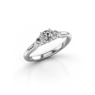Foto van Verlovingsring Laurian RND 950 platina diamant 0.37 crt