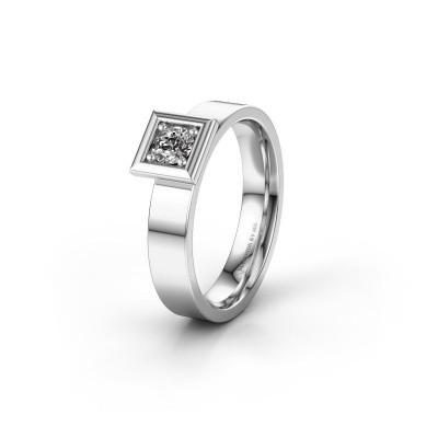 Trouwring WH2112L14A 925 zilver diamant ±4x1.7 mm