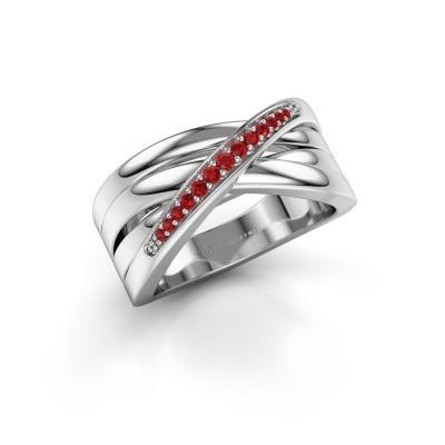 Ring Renna 2 950 platina robijn 1 mm
