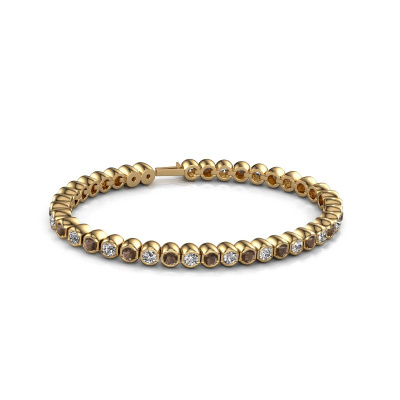 Foto van Tennisarmband Bianca 3.5 mm 375 goud rookkwarts 3.5 mm