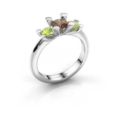 Bague Mirthe 925 argent diamant brun 0.50 crt