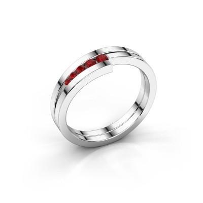 Foto van Ring Cato 925 zilver robijn 2.2 mm