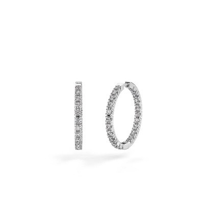 Picture of Hoop earrings Miki 20mm 585 white gold lab-grown diamond 1.38 crt