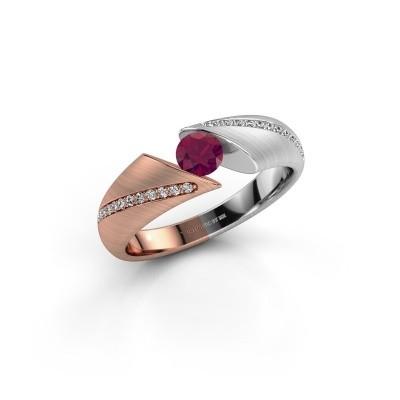 Foto van Verlovingsring Hojalien 2 585 rosé goud rhodoliet 4.2 mm