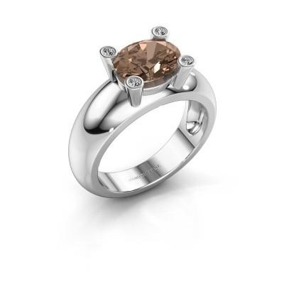 Ring Tamara OVL 925 zilver bruine diamant 1.80 crt