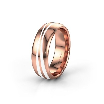 Weddings ring WH2226M36BP 585 rose gold ±7x2 mm