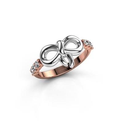 Ring Olympia 585 rosé goud zirkonia 2.2 mm