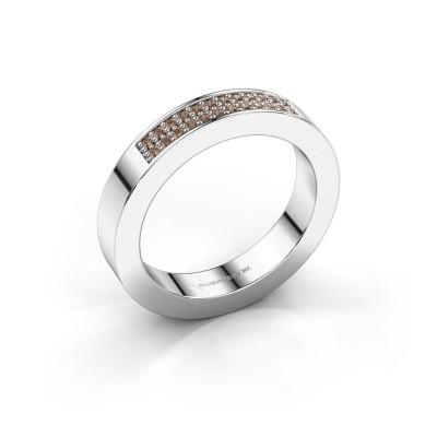 Foto van Aanschuifring Catharina 1 585 witgoud bruine diamant 0.16 crt