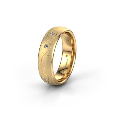 Trouwring WH2068L36BM 585 goud diamant ±6x2 mm