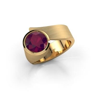 Ring Nakia 585 goud rhodoliet 8 mm
