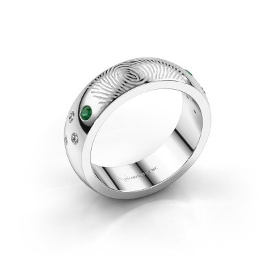 Picture of Ring Minke 925 silver emerald 2 mm