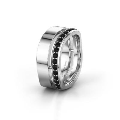 Ehering WH6008L18BP 585 Weißgold Schwarz Diamant ±10x2 mm