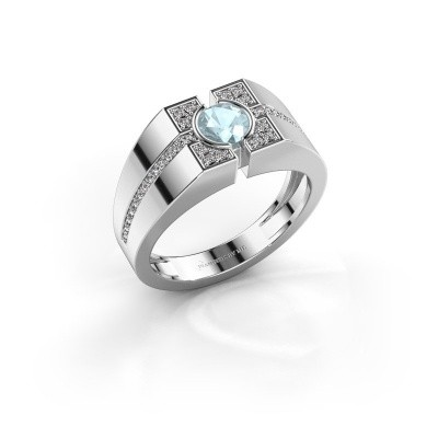Aquamarine men's rings | Design your own | DiamondsByMe