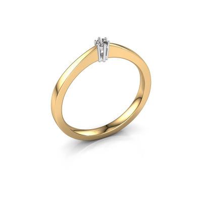 Bague de fiançailles Noortje 585 or jaune diamant 0.03 crt
