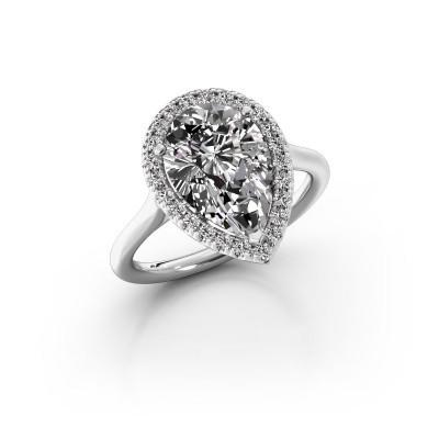 Foto van Verlovingsring Monique 1 950 platina diamant 3.288 crt