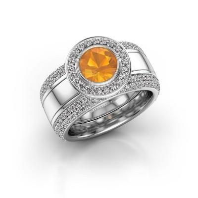 Foto van Ring Roxie 925 zilver citrien 6.5 mm